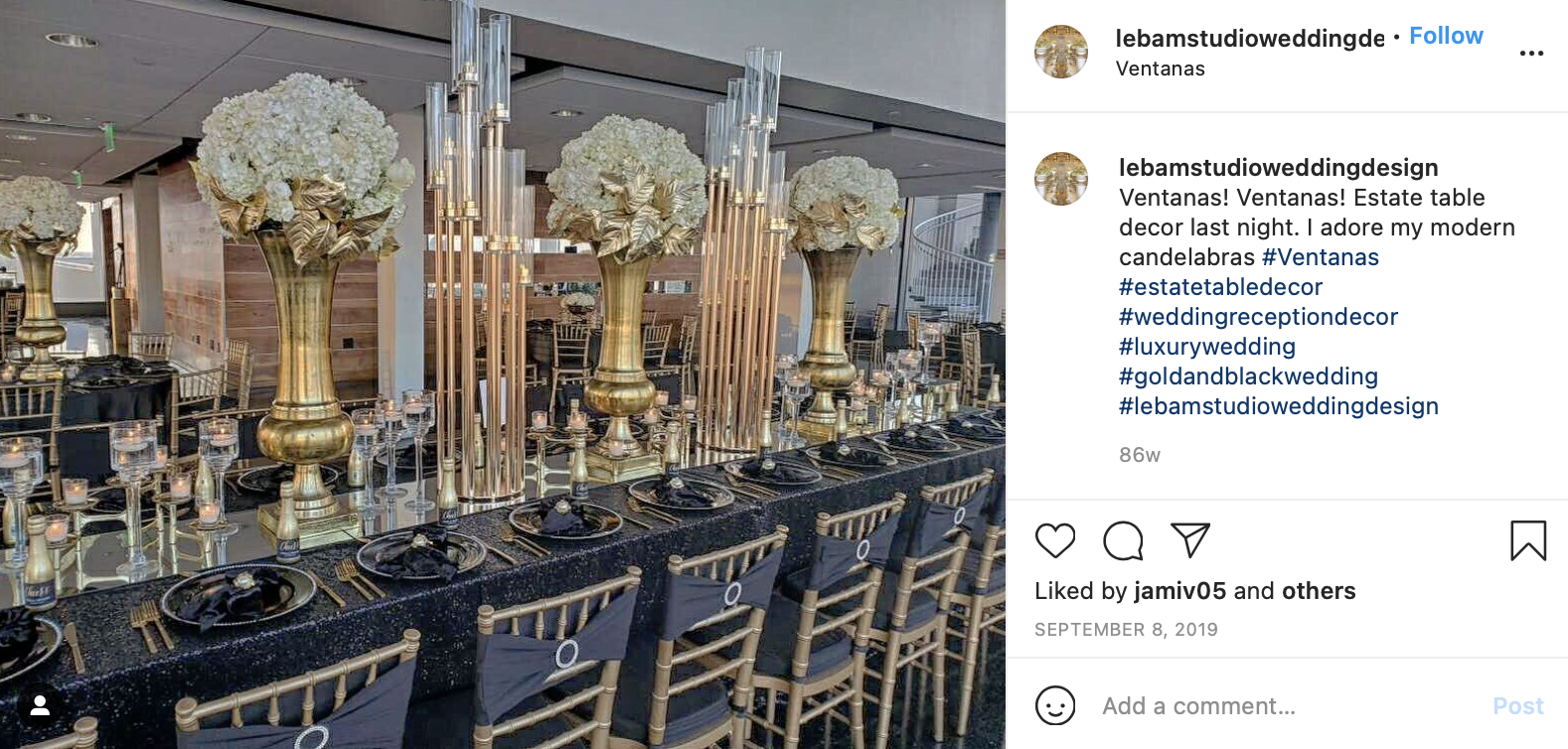 gold, white and black wedding color scheme