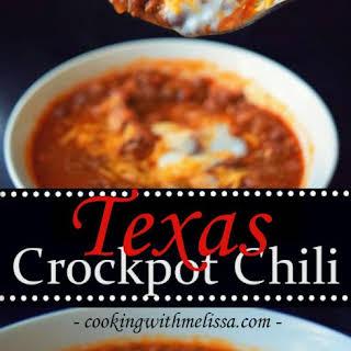 My Texas Crockpot Chili.