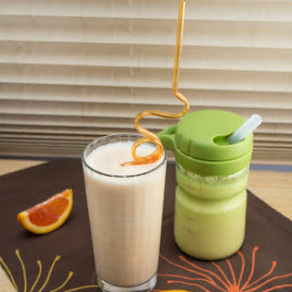 Mom & Tot Creamsicle Smoothies.