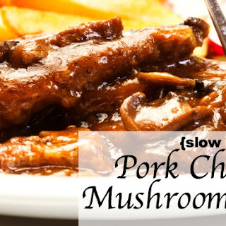 Pork Chops with Mushroom Gravy {Slow Cooker Style} Recipe