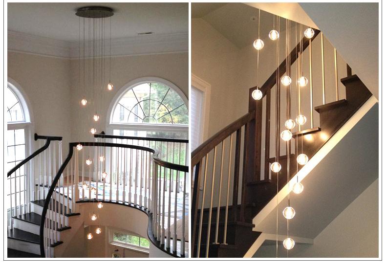 Đèn led chiếu sáng cầu thang dạng đèn chùm sang trọng