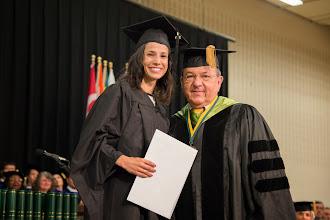 Photo: B. Jill Brooks Hodge Professional Development Award recipient Rachel Hansell with Board Chair Martin K.P. Hill