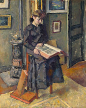 "Photo: Charle Guerin, ""Giovane donna con un libro"" (1875)"