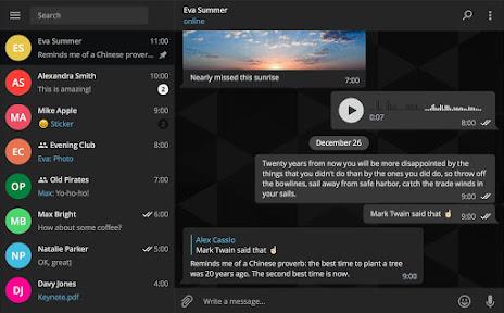 Telegram 1.0. Mucho mas que una aplicación de mensajería. Ejemplo 4.