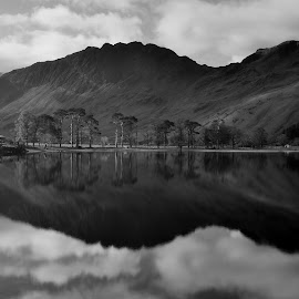 Lake Buttermere by Prashant Karnath - Black & White Landscapes