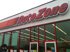Photo: Mike: Auto Zone is where I usually shop for auto supplies and gear - they're located near a shop I work at a lot, and the guys here can answer any question I have.