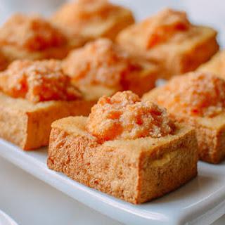 """Crispy Skin"" Stuffed Tofu."