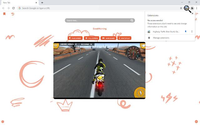 Highway Traffic Bike Stunts Game New Tab