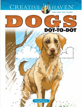 Creative Haven Dogs Dot-To-Dot Adult Coloring Book - Arkady Roytman