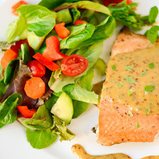 Salmon with Honey Mustard Mint Sauce Recipe