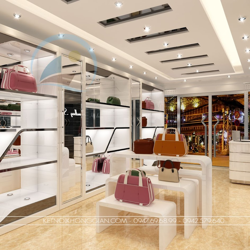 thiết kế shop túi xách 5