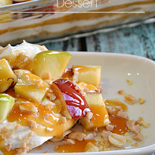 Caramel Apple Pudding Dessert.