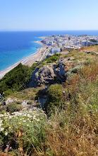 Photo: The Aegean pebble beach.
