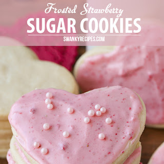 Strawberry Frosted Sugar Cookie Cut-Outs