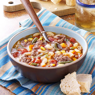 Beef Macaroni Soup.