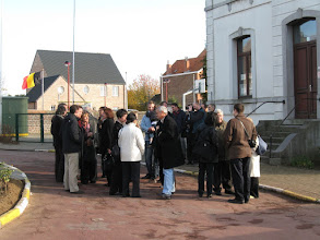 Photo: November 8, 2008.  From New York, Paris, London, Israel, Venezuela and Belgium, descendants of Paul Splingaerd gathered in Ottenburg, Belgium, where Paul grew up as a foster child.  He later traveled to China and became a mandarin.