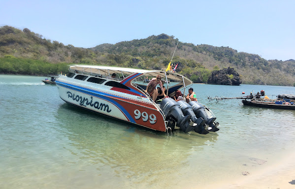 Travel from Krabi to Koh Bulone by Shared Minivan and Speed Boat