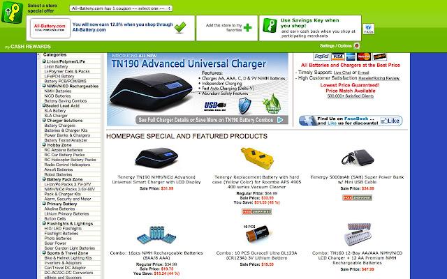 My Cash Rewards SavingsKey - Chrome Web Store Cash For Batteries Html on