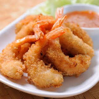 Fried Shrimp with Dipping Sauce.