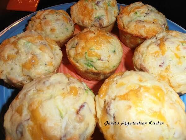 Cheesy Bacon & Zucchini Muffins