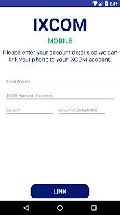 IXCOM mobilní klient - náhled