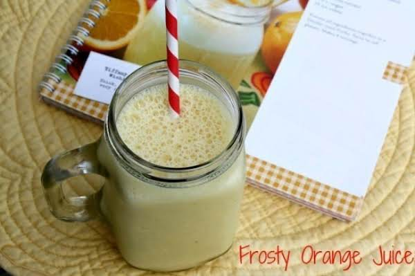Frosty Orange Juice Recipe