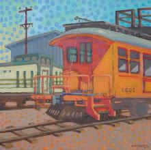 "Photo: ""Key System 1201"", acrylic on canvas 12"" x 12"", © Nancy Roberts"
