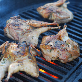 Rosemary Lemon Grilled Quail.
