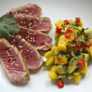 Seared Ahi Tuna with Mango-Avocado Salsa