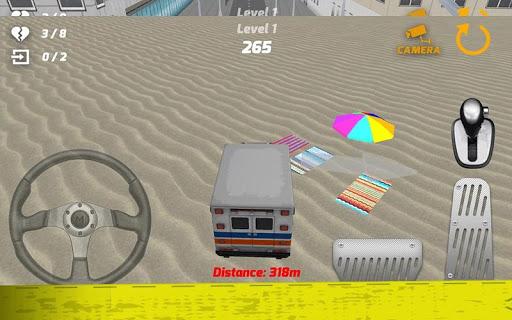 市救急車駐車場3D