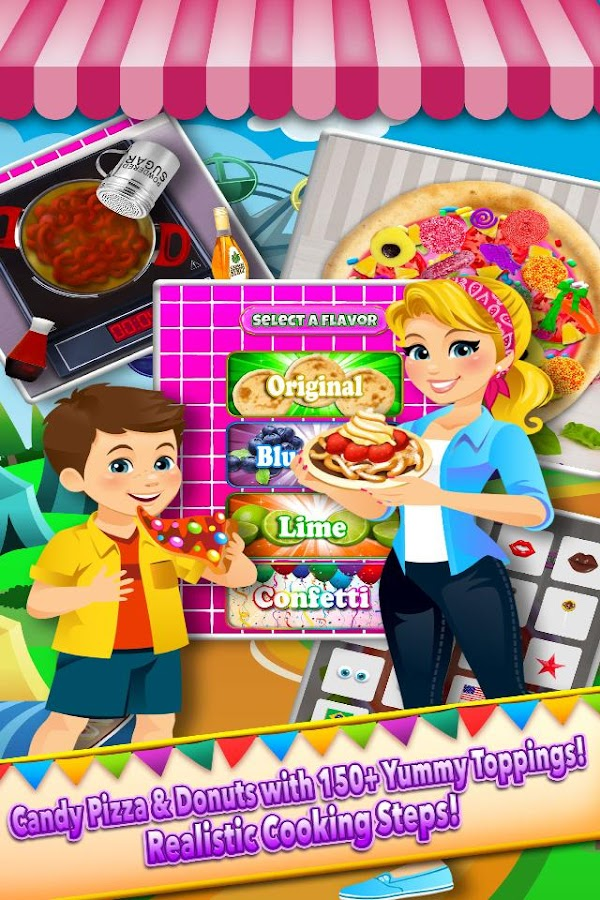 Theme Park Fair Food Maker - Candy Pizza Kids Game- screenshot