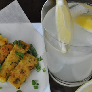 Happy Hour! Fried Polenta with Scallions and Fresh Oregano and a Vodka Lemonade Recipe