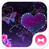 Butterfly Theme Violet Hearts