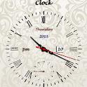 Hour striking clock alarm icon
