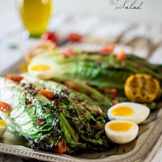 BLT Grilled Romaine Wedge Salad with Lemon Dill Vinaigrette