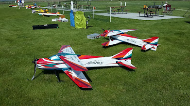 Photo: Both Michi and Dave's Acuracy airframes at the Richland Contest. Fantastic field!