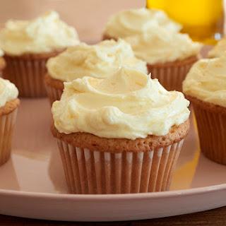 One-Bowl Orange Olive Oil Cupcakes with Honey Buttercream Recipe