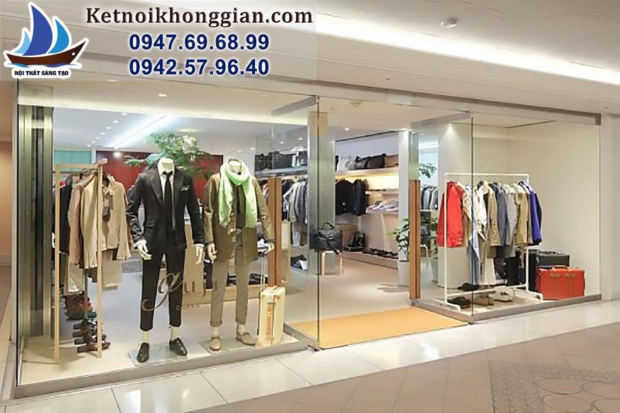 thiết kế cửa hàng thời trang nam Guji Royal city