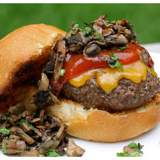Mushroom & Cheddar Sliders with Chipotle Ketchup.