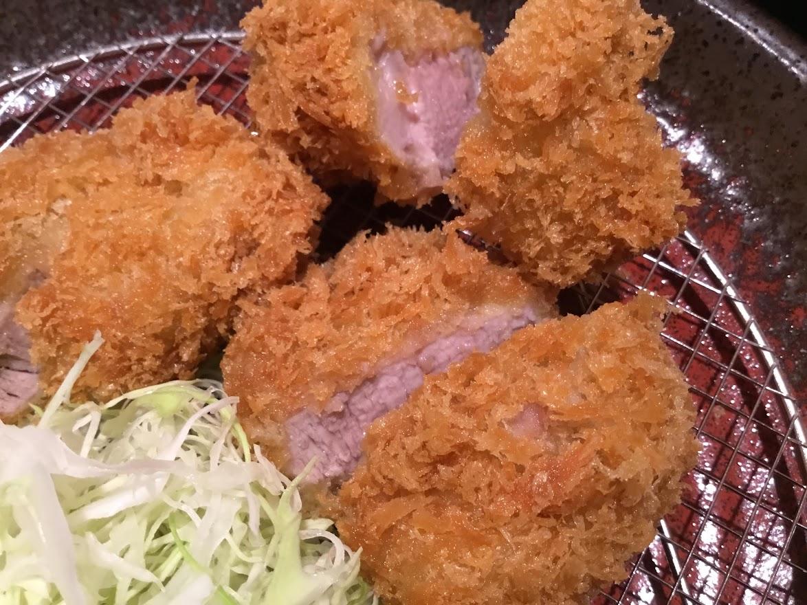 らくい食堂大島店でヒレかつを食べました。とても美味しかっけど。。。