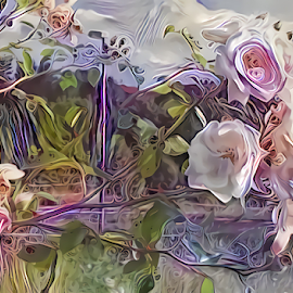 Roses abstract 2 by Cassy 67 - Digital Art Things ( digital, love, harmony, flowers, abstract art, abstract, creative, digital art, flower, modern, light, rose, roses, energy )