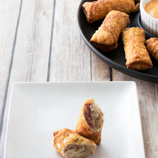 Reuben Egg Rolls with Thousand Island Sauce