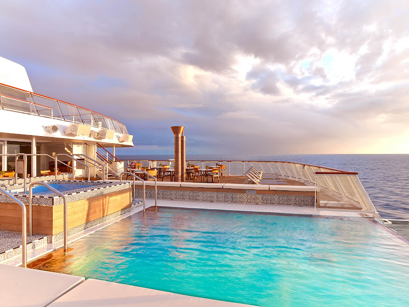Spend a relaxing afternoon on the Aquavit Terrace on  Viking Star.