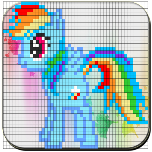 Coloring Unicorn Book Sandbox Pixel By Number Page (app)