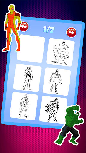 Superhero Coloring Book Pages Kids Games 18 Screenshots 1