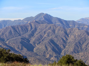Photo: Zoomed-in view northwest toward Pine Mt. (4539')