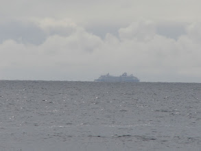 Photo: June 25 - A cruise ship in Dixon Entrance as seen from west of Cape Fox.