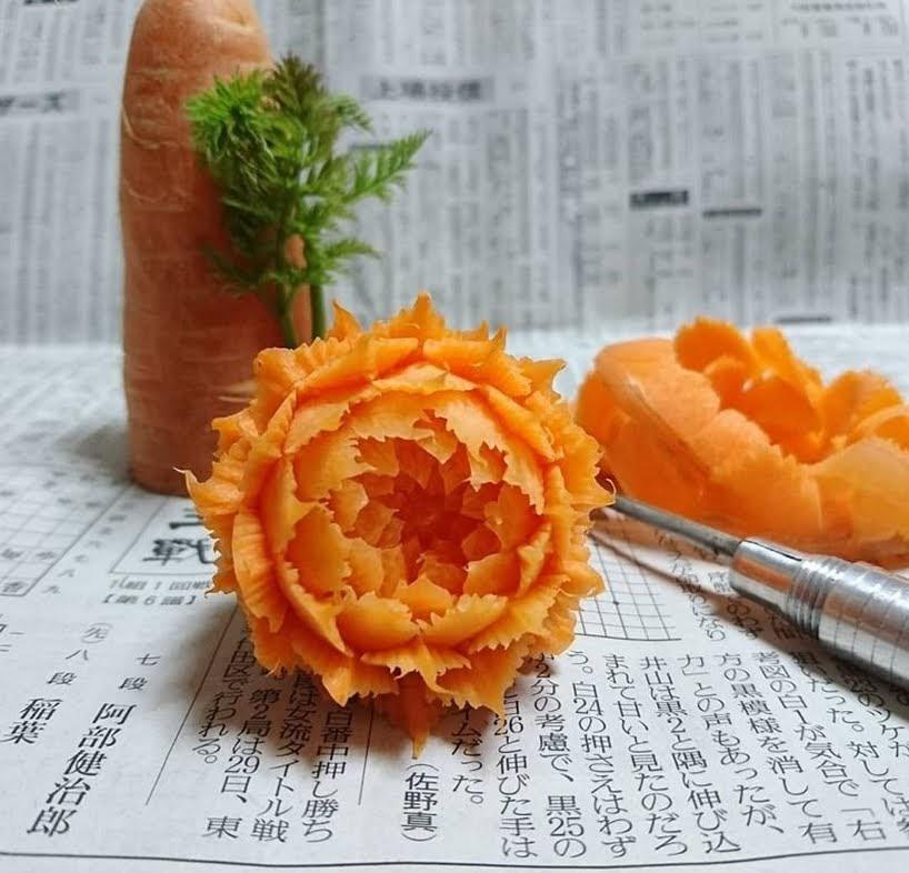 Impresionante comida tallada por Takehiro Kishimoto
