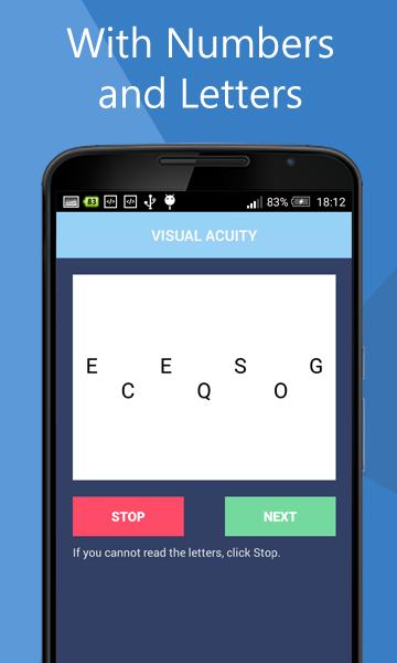 Eye test- screenshot