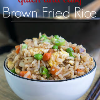 Quick and Easy Brown Fried Rice.